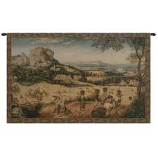 Collecting Hay Italian Tapestry Wall Hanging