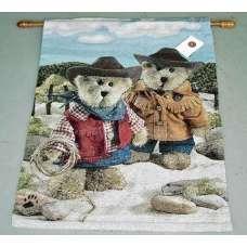 On the Range Boyd Bear Fine Art Tapestry