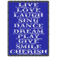 Live Love Laugh Tapestry Throw