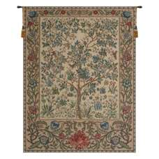 The Tree of Life Beige Belgian Tapestry