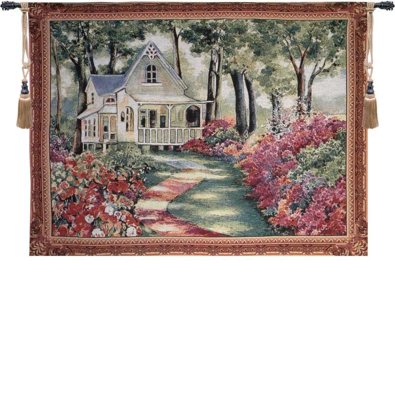 Garden Path to Home Tapestry Wall Art