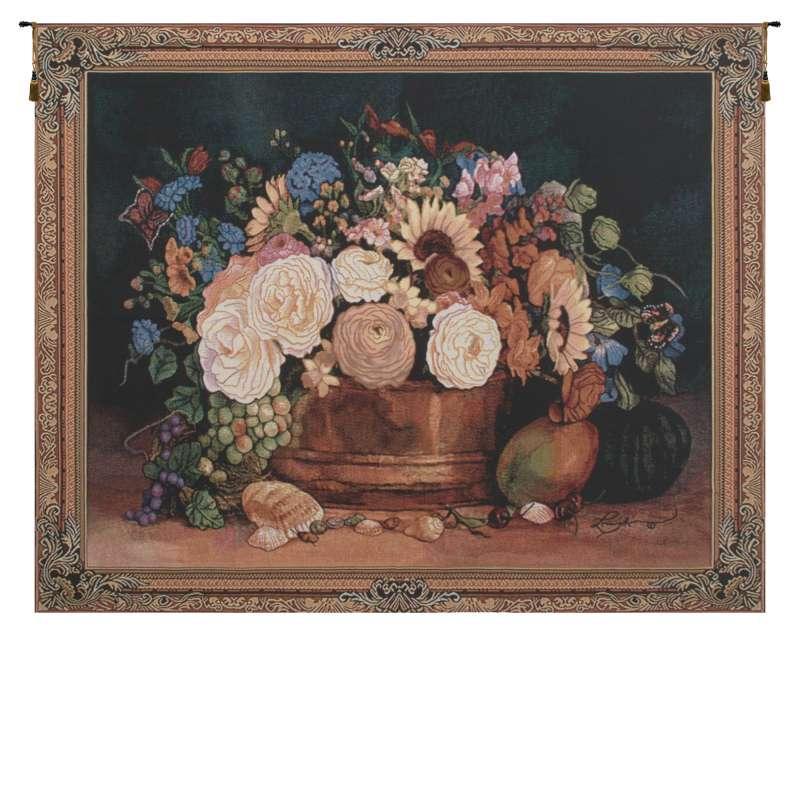 Summer Bouquet II Still Life Tapestry Wall Art