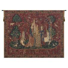 The Lady and the Organ II with Border Belgian Tapestry