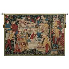 Vendages (Yellow) Belgian Tapestry