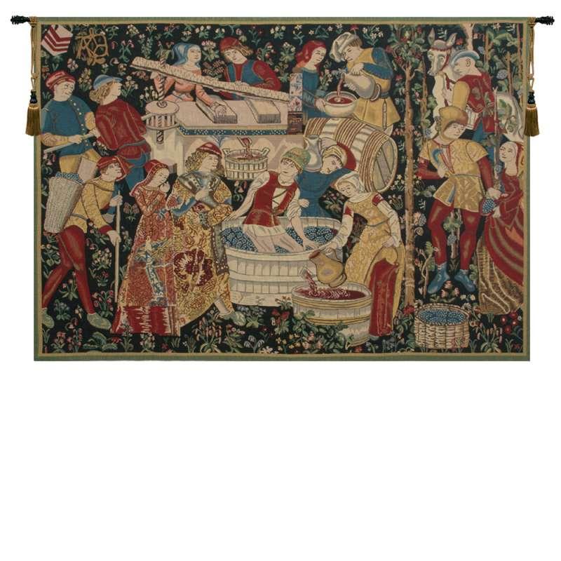 Vendages (Yellow) Belgian Tapestry