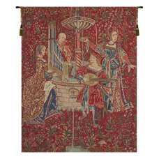 The Concert (Red) Belgian Tapestry