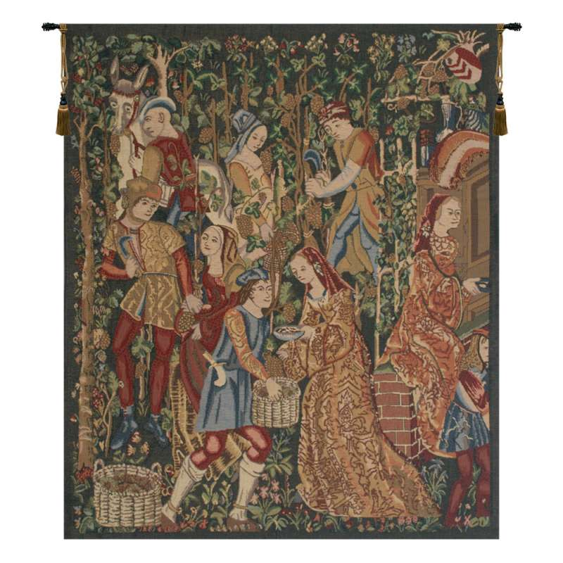 Vendages Right Side Red Belgian Tapestry