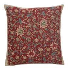Fleurs de Morris Red European Cushion Covers