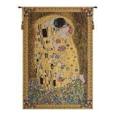 The Kiss (Yellow) Belgian Tapestry