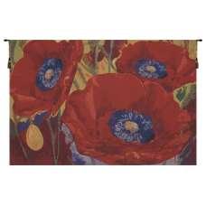 Three Poppies Belgian Tapestry