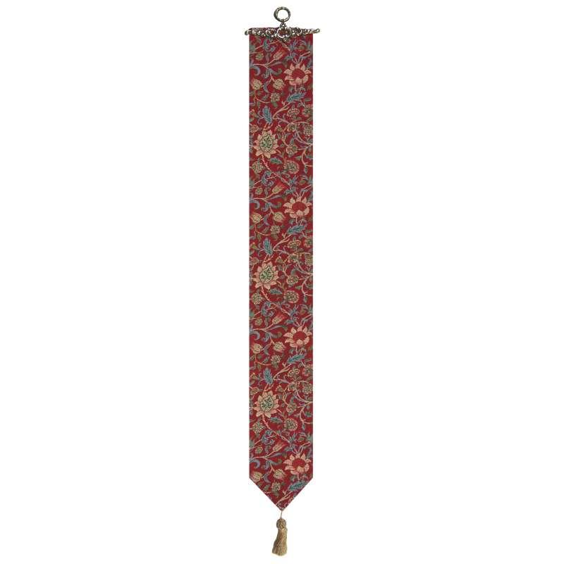 Fleurs de Morris (Red) I Bell Pull