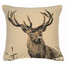 Royal Deer French Tapestry Cushion