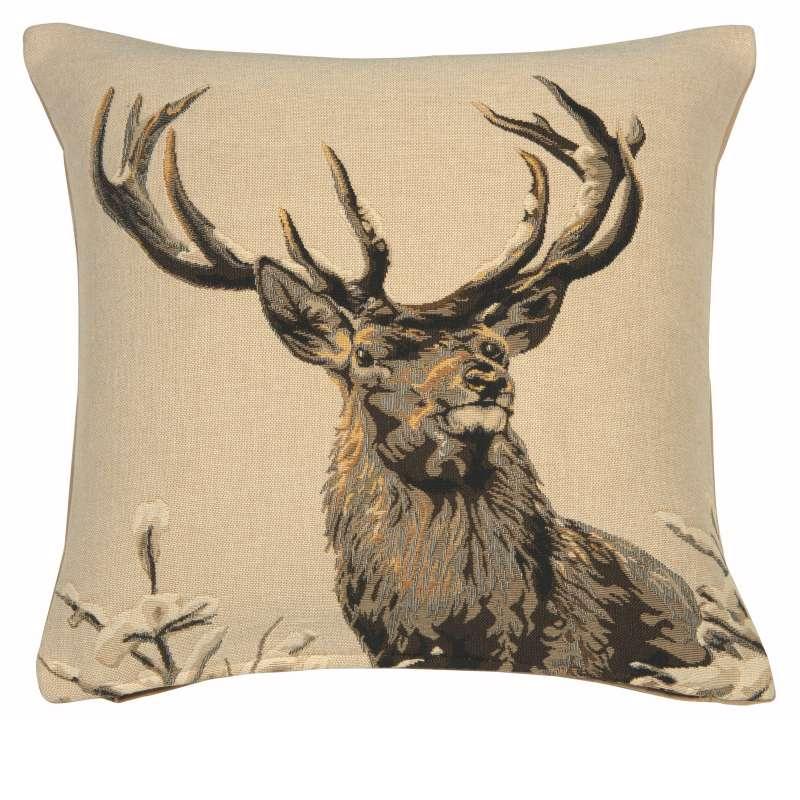 Royal Deer Decorative Tapestry Pillow