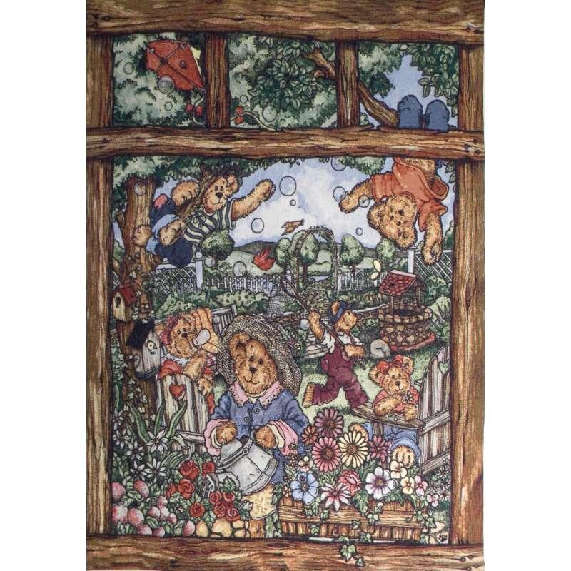 Bears at Play Tapestry Wall Art