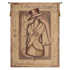 Garden Party Day at the Races Belgian Tapestry Wall Hanging