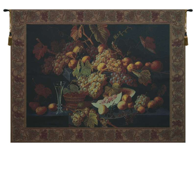 Champagne and Fruit Tapestry Wall Art