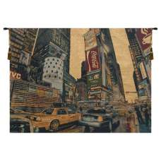 Times Square New York Italian Tapestry Wall Hanging