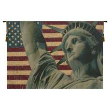Statue of Liberty Italian Tapestry Wall Hanging