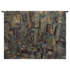 A New York Night Italian Tapestry Wall Hanging