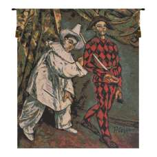 Pierrot and Harlequin European Tapestry