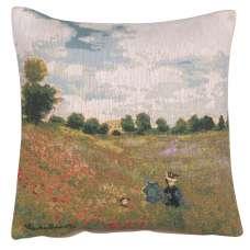 Monet's Poppy Field European Cushion Cover
