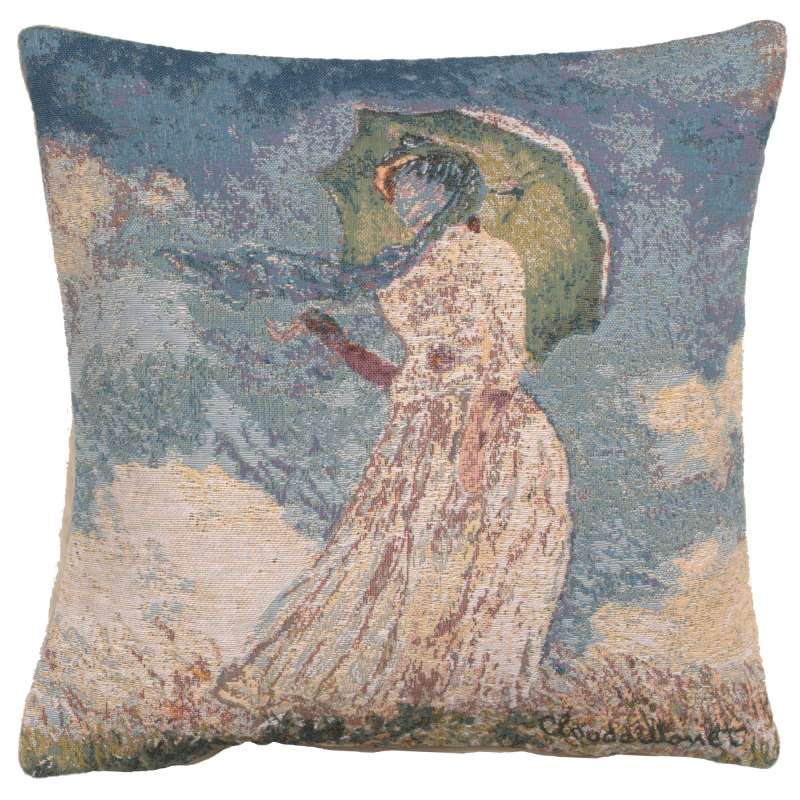 Monet's Lady with Umbrella European Cushion Covers