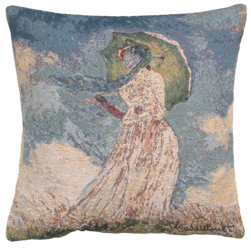 Monet's Lady with Umbrella European Cushion Covers