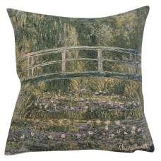 Monet's Bridge at Giverny I European Cushion Covers