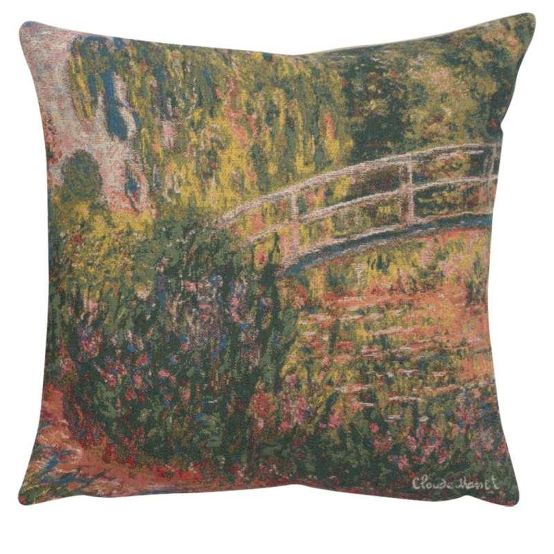 Monet's Japanese Bridge European Cushion Cover
