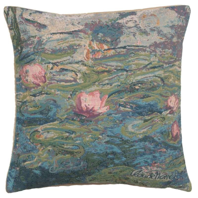 Monet's Water Lilies II European Cushion Cover