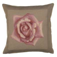 Rose Pink French Tapestry Cushion