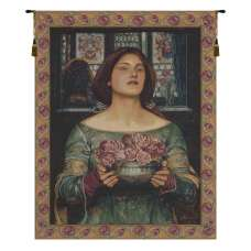 Offering the Roses Italian Tapestry Wall Hanging