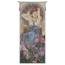 Amethyste Mucha French Tapestry Wall Hanging