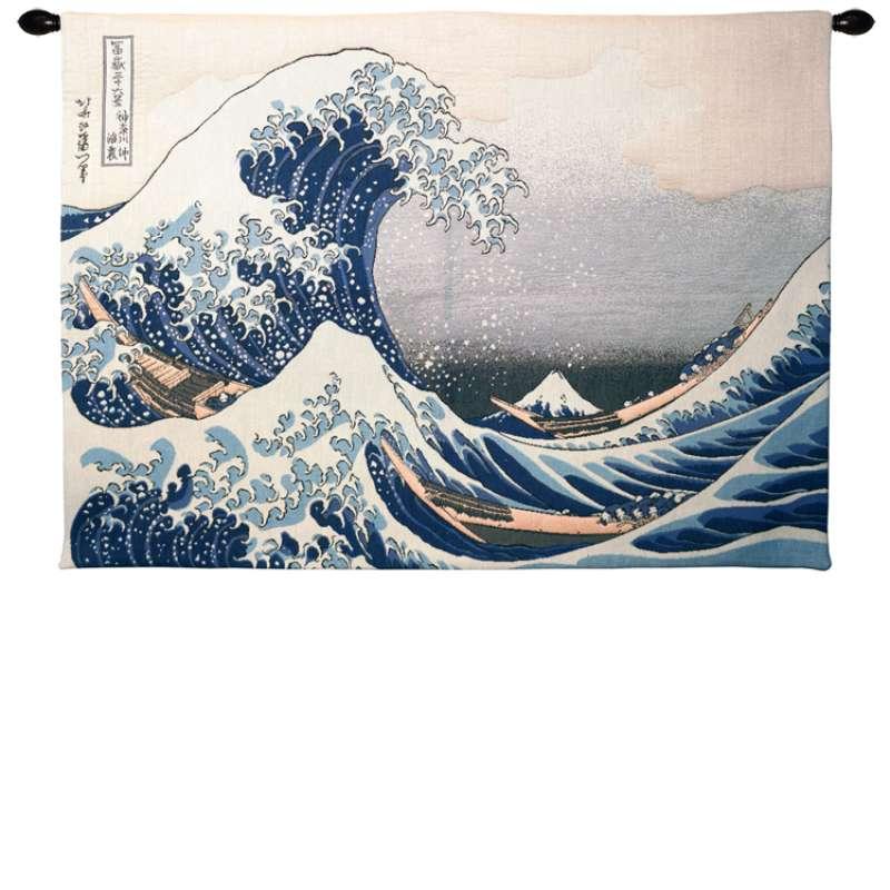 La Vague D'Hokusai French Tapestry Wall Hanging