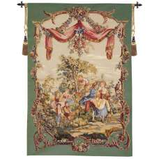Cueillette Sous Le Dais French Tapestry Wall Hanging