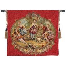 Bergers Et Bergeres French Tapestry Wall Hanging