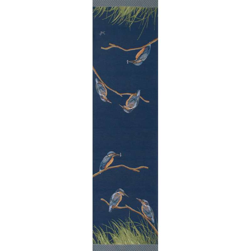 Kingfishers Green  French Tapestry Table Runner