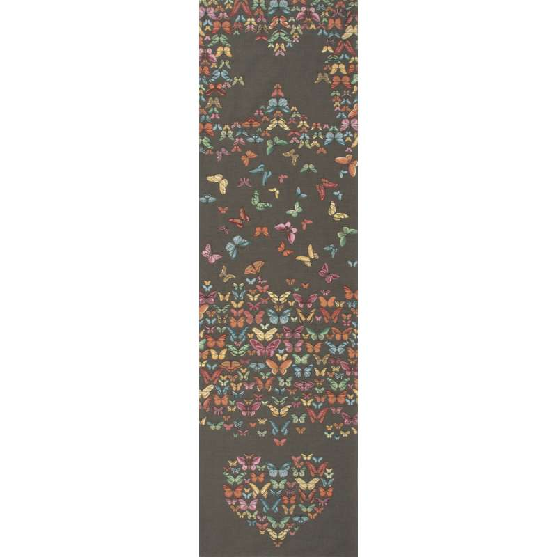 Butterflies Dark French Tapestry Table Runner