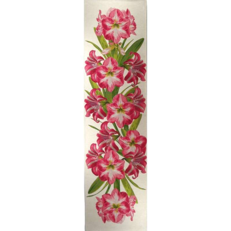 Amaryllis White   French Tapestry Table Runner