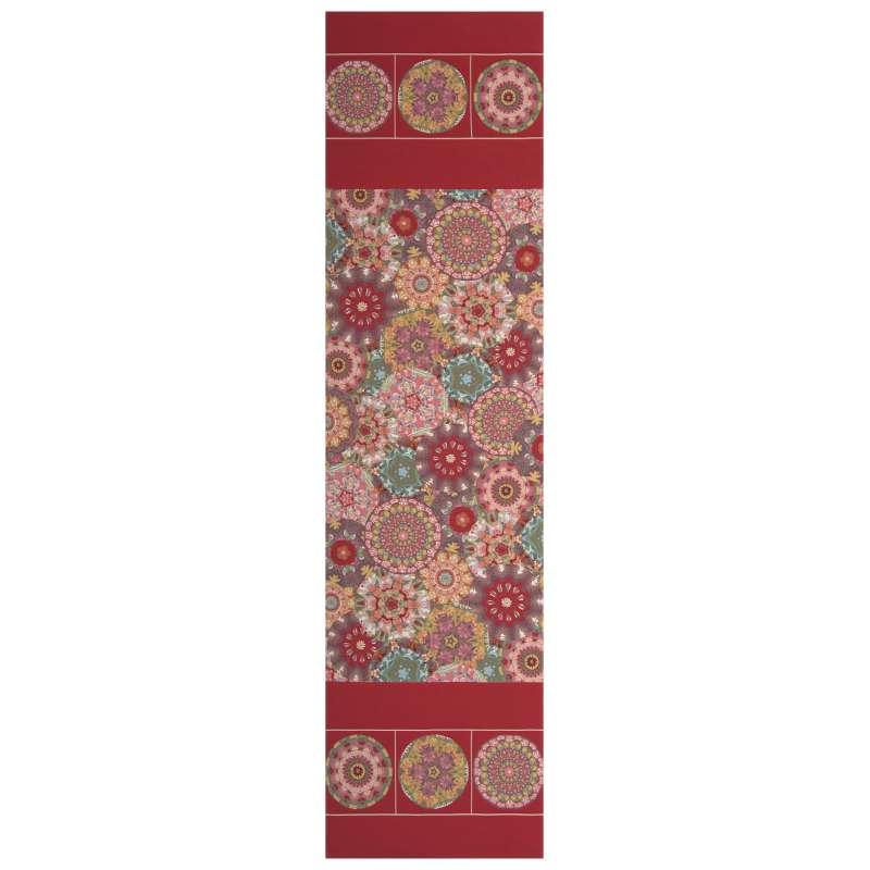 Kaleidoscope Red French Tapestry Table Runner