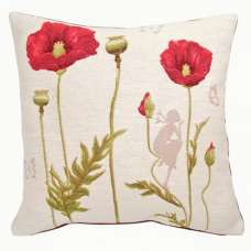 Poppies 1 French Tapestry Cushion