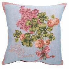 Lucky Charm Spring Gold French Tapestry Cushion