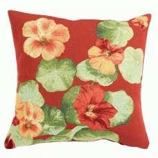 Nasturtium Red I French Tapestry Cushion