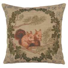 Squirrels French Tapestry Cushion