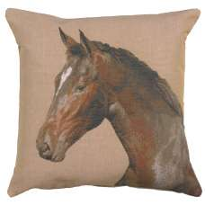 Close up On Horse 1 French Tapestry Cushion