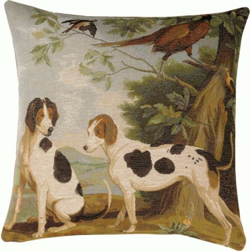 Hunting Dogs French Tapestry Cushion