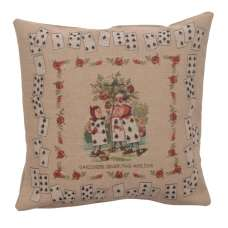 The Gardeners Alice In Wonderland French Tapestry Cushion