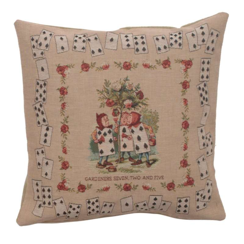 The Gardeners Alice In Wonderland Decorative Tapestry Pillow