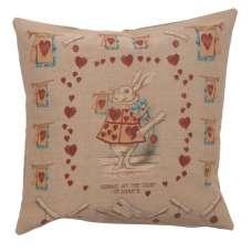 Heart Rabbit Alice In Wonderland French Tapestry Cushion
