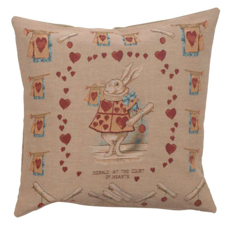 Heart Rabbit Alice In Wonderland Decorative Tapestry Pillow